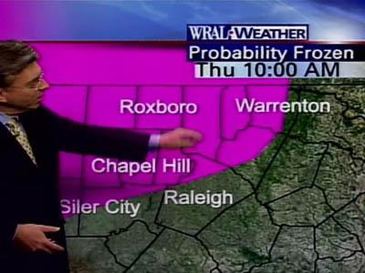 The Triangle could get rain, sleet and snow, with temperatures just above freezing, WRAL Chief Meteorologist Greg Fishel said.