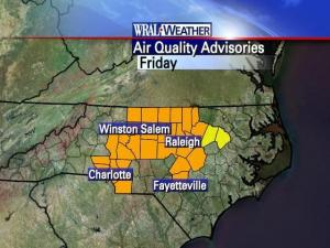Code Orange air-quality map for April 18, 2008