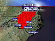 Triangle tornado watches are up as storms move through state