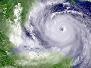 Hurricane Dean was a Category 5 hurricane when it made landfall along the Mexican coast. (Courtesy: NOAA)