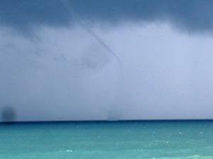 An apparent waterspout in Topsail Beach, N.C. on Friday, July 18, 2008. (photo by Jason Tice)