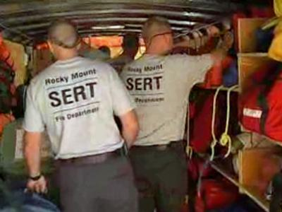 Rocky Mount's swift-water rescue team geared up for action locally or anywhere across the state.
