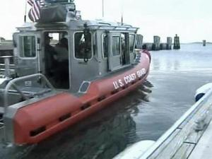 WRAL's Kelcy Carlson rides with the Coast Guard near Atlantic Beach.