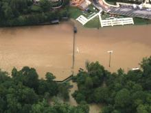 Sky 5 tour of Raleigh flooding