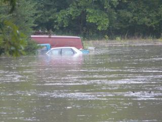 An image of flooding from Hyco Creek on Rolling Hills Road in Roxboro. (Submitted by: Tonya and Charles Carr)