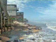 Storm chews up Wrightsville Beach