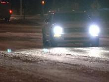 Slick roads welcome morning commuters