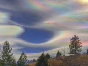 A nice combination of form and color. Iridescence in lee wave clouds near Boulder, CO.