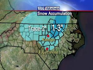 Snow forecast totals for Feb. 3-4, 2009