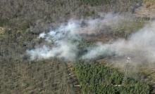 Sky 5: Brush fire in Durham County