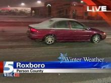 Snow accumulates in Roxboro