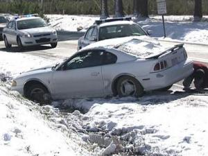 Icy roads led to more than a dozen wrecks before sunrise Tuesday in Wilson.