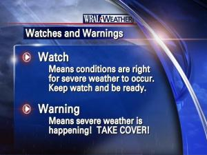 The difference between a severe weather watch and warning is critical!