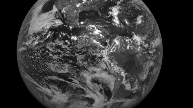 "The first full disk image from the next generation GOES-13 satellite. See the link below for a higher resolution image to get a sense of the crisp detail available from this satellite. It is currently in a ""storage"" orbit and will go into operation when an older system fails."
