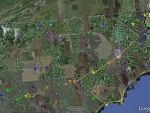 Tornado Tracks from 1984 Carolinas Tornado Outbreak