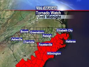 Tornado watches posted for Saturday evening