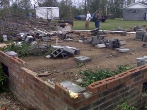 A May 11, 2009, storm destroyed several houses near Lumberton.