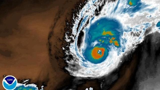 Hurricane Bertha in 2008, a storm that reached Category 3 on the Saffir-Simpson Scale.