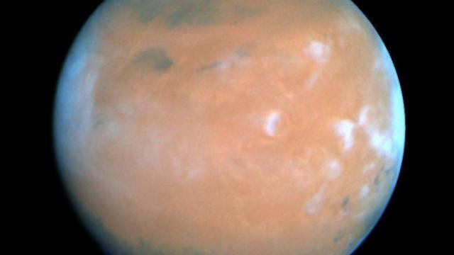 Mars as seen by the Hubble Space Telescope. Image from NASA's National Space Science Data Center.
