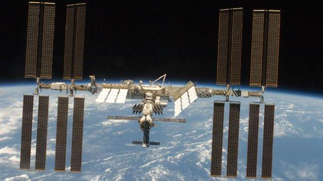 International Space Station, as seen from the space shuttle Discovery after its March 2009 visit (Image: NASA)