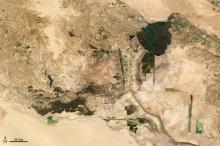 Terra image of Iraqi marshland, March 2009.