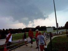 These clouds were spotted during a soccer practice Tuesday in Apex. (Courtesy:  Myesha Jones)