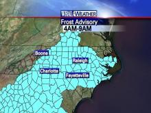 Frost advisory for the morning of October 20th