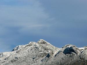 Gusty cold winds made temperatures frigid at Grandfather Mountain on Sunday.  (Photo courtesy of Jim Morton)