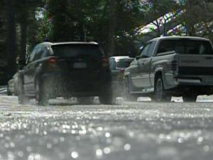 Ice glitters on Raleigh roads two days after a winter storm dumped up to 5 inches of snow in the Triangle.
