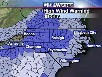 The National Weather Service has issued a high wind warning.