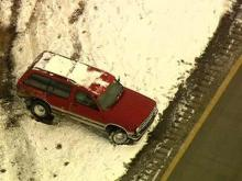 Sky 5 aerial of wrecks in Johnston County