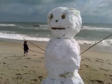 Carolina Beach snowman