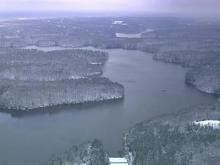 Sky 5 aerial of Falls Lake