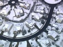 Sky 5 aerial of Crabtree neighborhood