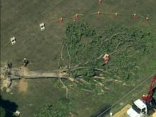 Sky 5 video: Zebulon storm damage