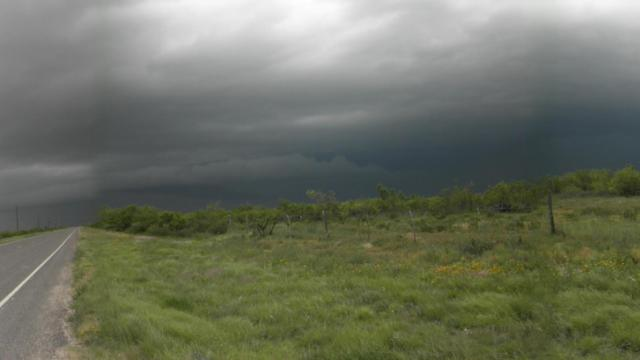 It was the an exciting day outside Odessa, Texas, in the life of stormchaser and N.C. State student Casey Letkewicz  a tornado, lightning, heavy rain and flooding. (Photo courtesy of asey Letkewicz)