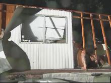High winds damage Hoke Co. homes