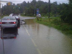 Flooding at Jones Sausage and Rock Quarry roads in Raleigh.