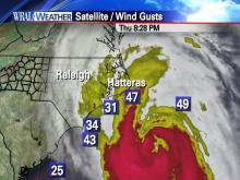 Hurricane Earl potential wind gusts