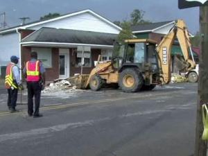 Residents in Windsor continue clean-up efforts on Oct. 14, 2010 - two weeks after heavy rains caused major flooding.