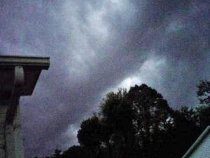 Dark clouds passed over Burke County Tuesday night.