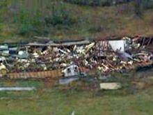 Aerials: Tornadao damage in western N.C.