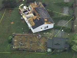 Winds tore a house on Apple Tree Lane south of Roxboro, off its foundation, pushed it 30 yards and spun it around on Oct. 27, 2010.