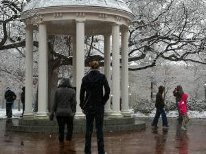 UNC-Chapel Hill Old Well, Dec. 4, 2010 (Photo submitted by Jonathan Weinshank)