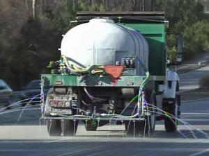 Triangle road crews are spraying brine -- a mixture of water and salt -- to prevent icy conditions if snow falls Thursday.