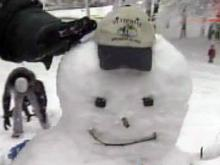 Snowball knocks out WRAL snowman