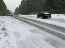 Fayetteville reports slick roads