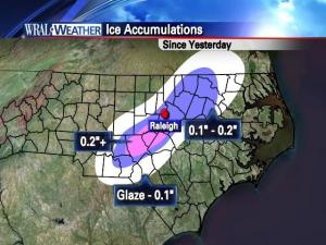 A look at ice accumulation totals from Jan. 10-11, 2011.