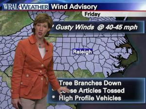 Gusty winds are expected Friday
