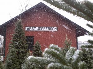 A cold front left a dustring of snow in West Jefferson, N.C., on Sunday, March 6, 2011.